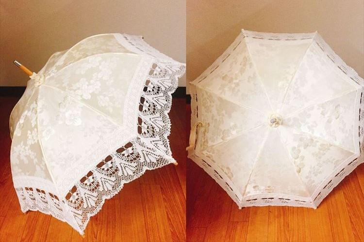 45年前のウェディングドレスをリメイクして素敵な傘に…世界にひとつだけの逸品!