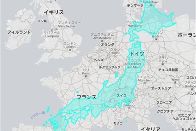 こうしてみると日本はデカい!?とあるサイトを利用して国の大きさを比較したツイートが話題に