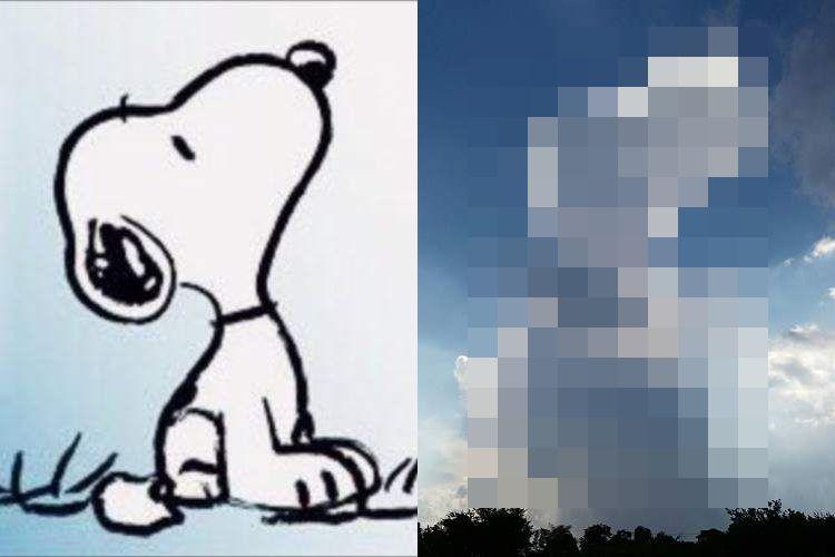 これはスゴイ!『スヌーピーみたいな雲』が本物そっくりで可愛すぎると話題に