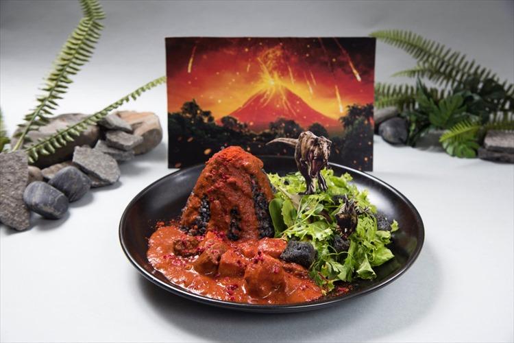活火山をモチーフとしたカレーなどユニークなメニューがズラリ!「ジュラシック・ワールドカフェ」