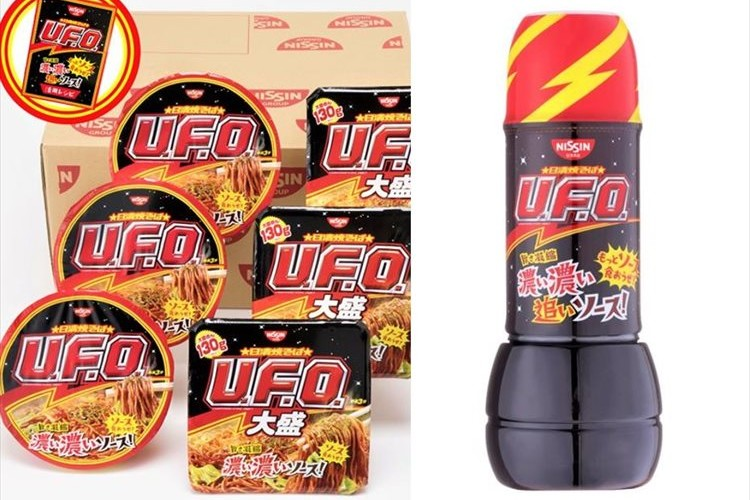 もっとソース食おうぜ!「日清焼そばU.F.O. 濃い濃い追いソース! ボトルセット」が数量限定で販売開始!