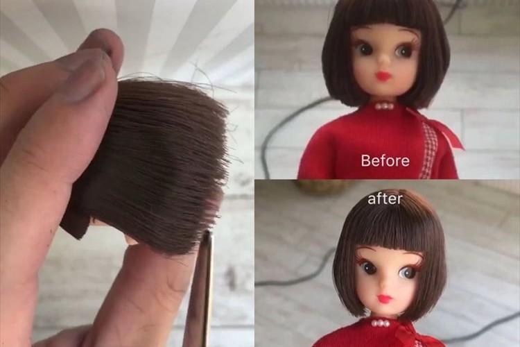 【動画】美容師がリカちゃんを本気でカットしたら、やっぱりプロだった!