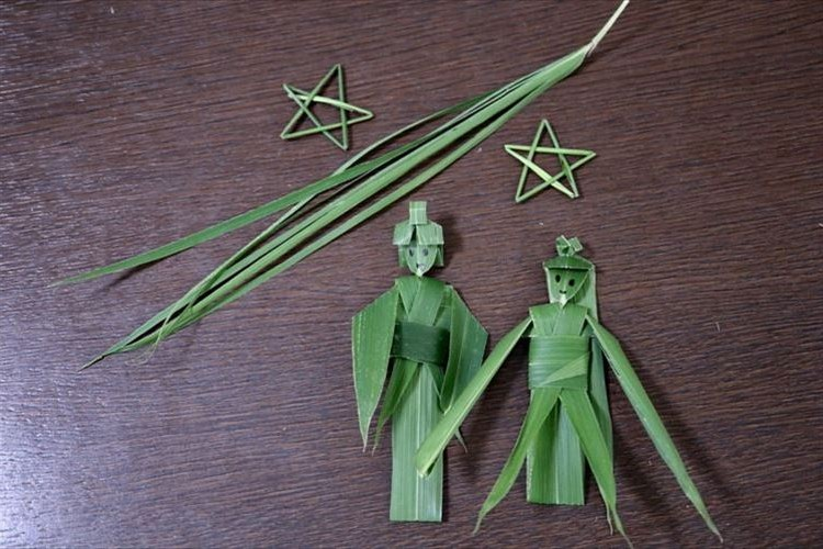 七夕にうってつけ!笹の葉で作った織姫と彦星の完成度が凄い!作り方動画も公開