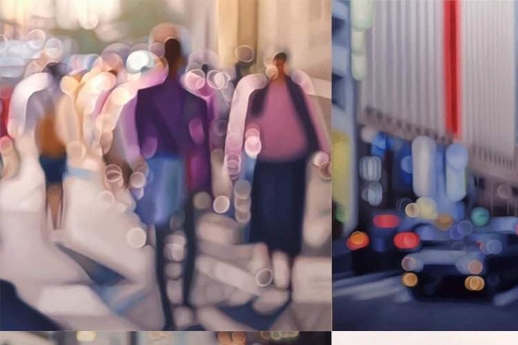 『近視の人には世界がこう見えている』海外アーティストが描いた油絵が話題に