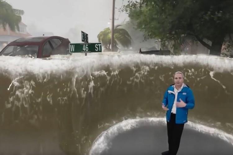 「すぐ避難すべきだと思い知らされる」ハリケーンの恐ろしさをCGを駆使して伝える天気予報