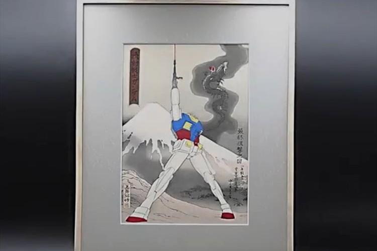 日本の誇るアニメと芸術が奇跡のコラボ!「機動戦士ガンダム」の名シーンが浮世絵に!