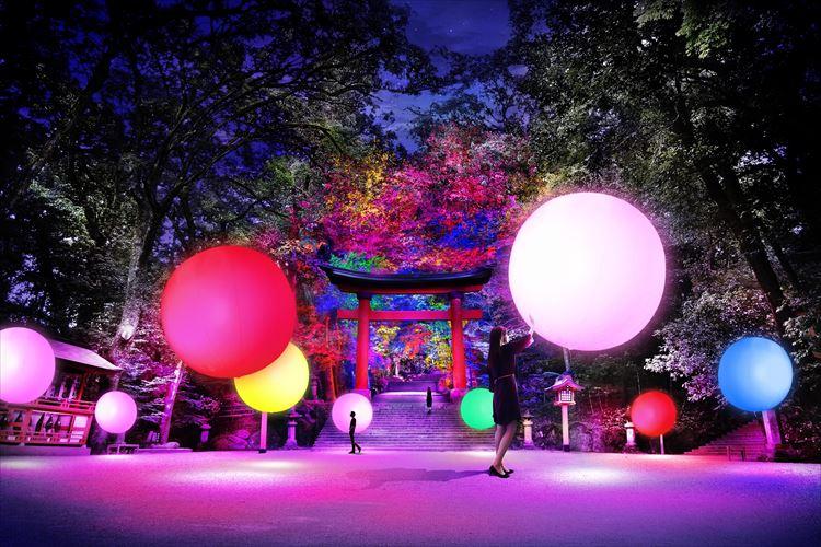 日本三大八幡宮の一つ『宇佐神宮』が光のデジタルアート空間に!【10月26日〜11月7日】