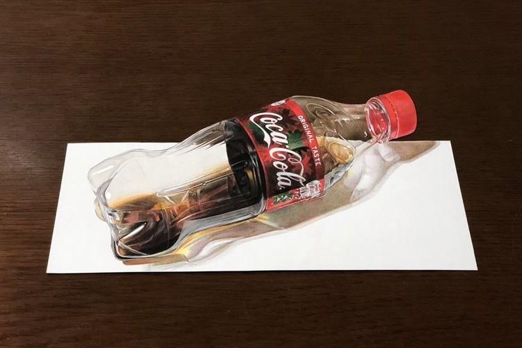 色鉛筆で描かれた「コカ・コーラ」の絵、制作したのは15歳の高校1年生だった!