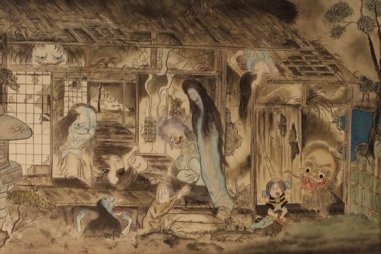 ねずみ男と若冲鶏図!?鬼太郎たちと化物屋敷図!?ゲゲゲ妖怪といにしえの絵師たちがコラボが面白い!
