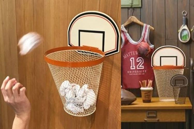ゴミが出たらシュート!?バスケットゴール型のゴミ箱でゴミを捨てるのが楽しくなりそう♪