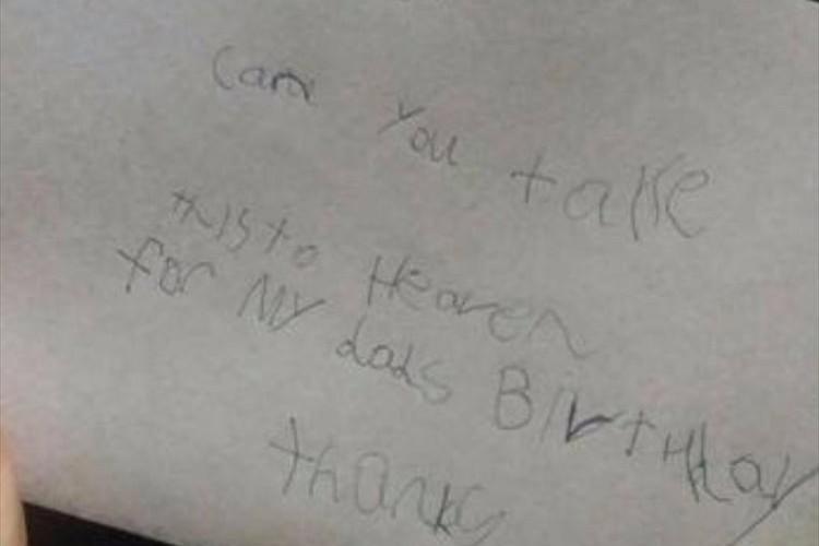天国のパパの誕生日を祝うため手紙を書いて投函したら、郵便局から素敵な通知が返ってきた