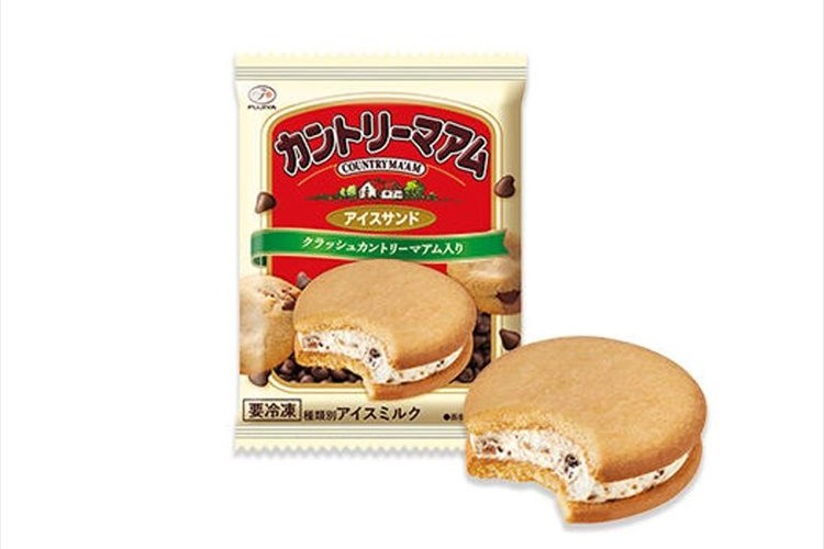 砕いたカントリーマアム入りのアイスをクッキーでサンド!『カントリーマアムアイスサンド』が登場!