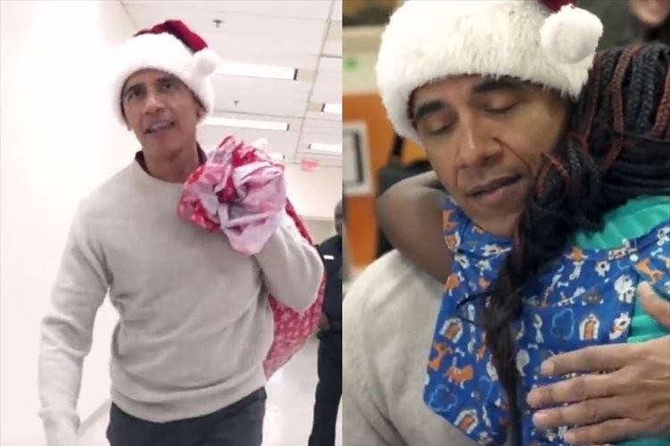 オバマ元大統領がサプライズで小児病院へ…「家族や愛する人がいる場所ならX'masはどこでも迎えられる」