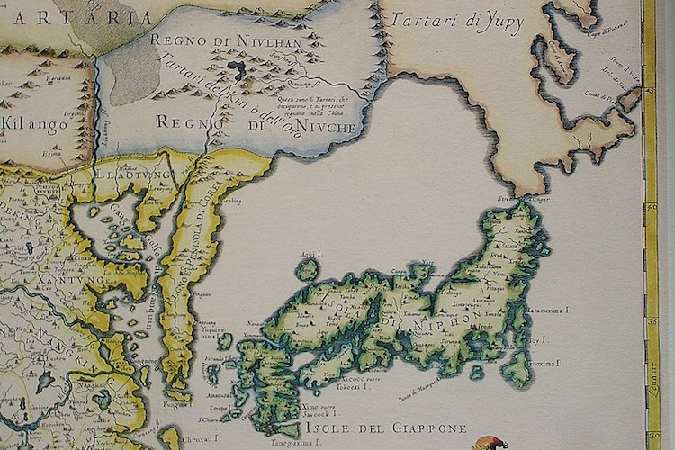 ロマンあふれる歴史!17世紀にイタリアで作られた日本付近の地図がカッコイイと話題に!