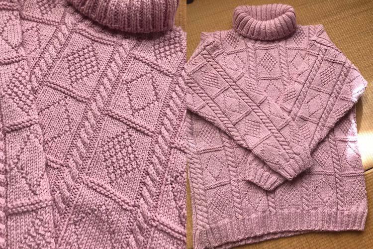 手編みの技術がハンパない!88歳のおばあちゃんが作ったセーターのクオリティーが超高かった