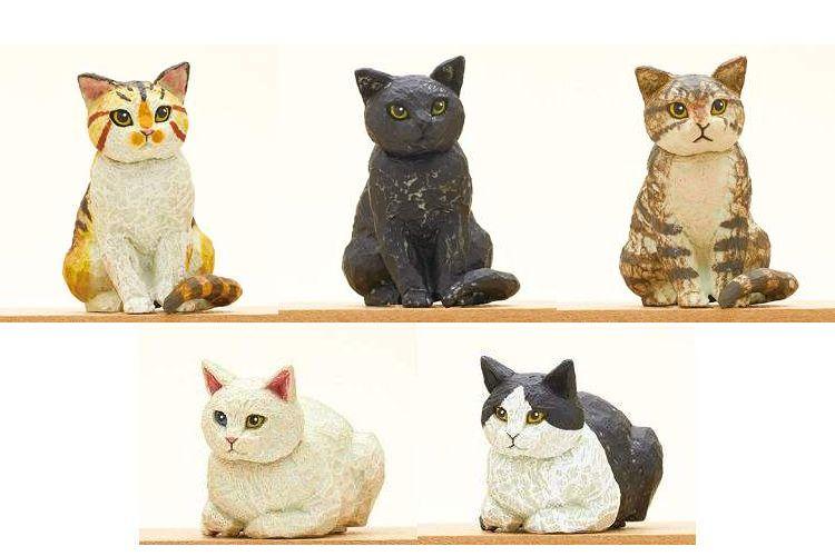 ほっこりあたたか。カプセルトイ『はしもとみお 猫の彫刻』がしみじみ良い