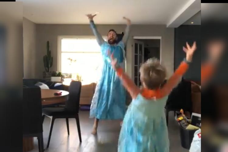 素敵すぎるパパに拍手!アナ雪のドレスで踊る親子のハッピー映像が世界で話題に