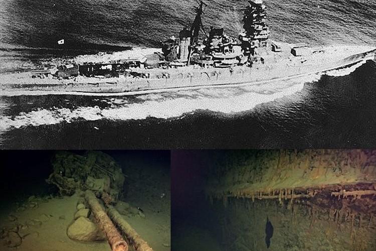 旧日本海軍の戦艦「比叡」がおよそ77年ぶりに発見される!ソロモン諸島のサボ島北西沖の海底にて