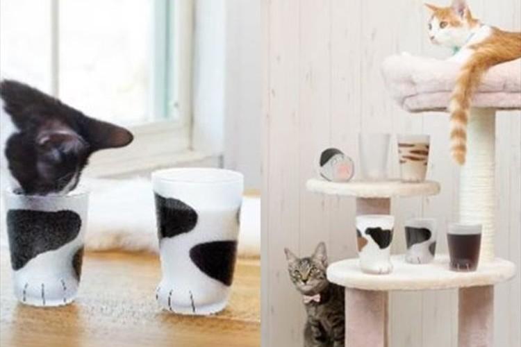 猫の足をモチーフにしたユニークなグラスが登場!底面の隠れ肉球も可愛らしい♪