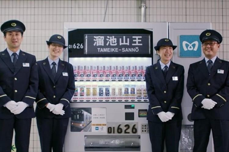 引退した「銀座線01系」がモチーフの自販機が登場!実際の車両で使われていた部品も活用