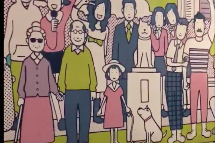 感動の声が続出!渋谷の街に出現したシャッターアートの結末が泣けると話題に
