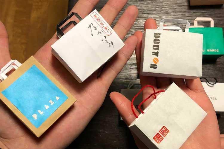 """これぞ『神の手』!?有名店の""""紙袋""""を再現したミニチュア作品が素晴らしい"""