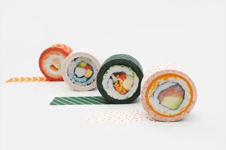 この発想はなかった!巻き寿司をモチーフにしたマスキングテープ『Sushi Tape』が面白い!