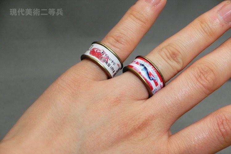 缶詰をそのまま小さくして指輪にしてみたら可愛かった♪ 『缶詰リング』が話題に!