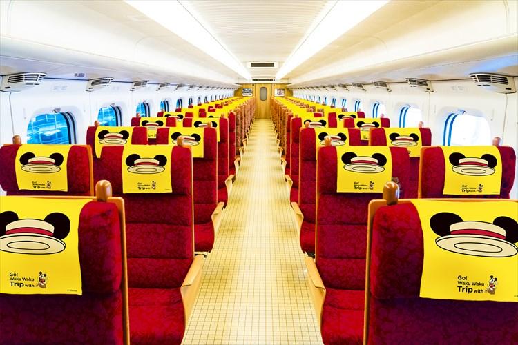 """見るのも乗るのもワクワクがとまらない♪""""ミッキーマウスがデザインされた新幹線""""が運行!"""