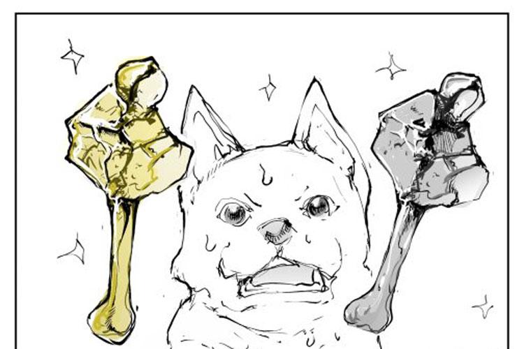 """童話『欲張りな犬』と『金の斧と銀の斧』を融合した""""サイレント漫画""""が話題!セリフ無しの世界観が面白い"""