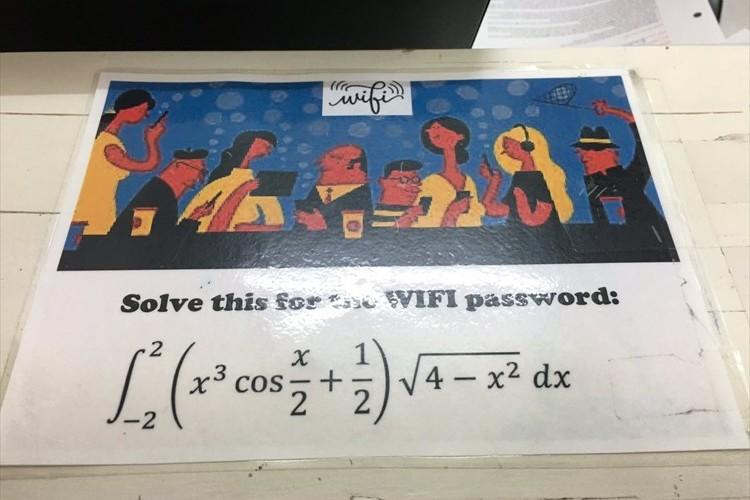 数式を解かなければ接続できない!?メルボルンの宿泊先に設置されていたWi-Fiが難解すぎると話題に