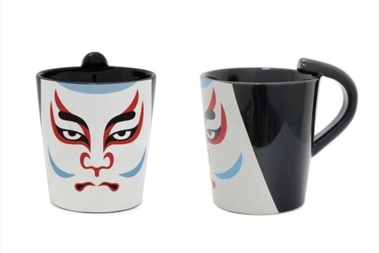 取っ手がちょんまげに!歌舞伎役者の隈取が描かれたマグカップ「ちょんマグ」が面白い!【全6種類】