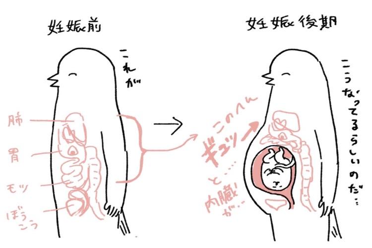 「まさにこの感じ」「尊敬します」妊娠中のツラさが分かるイラストに共感の嵐&リスペクトの声