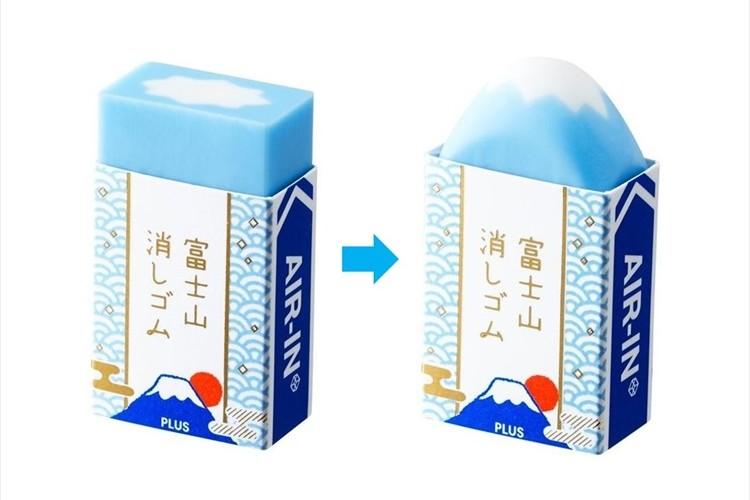 バランスよく削っていくと富士山が姿を現す『富士山消しゴム』が面白い!【数量限定販売】