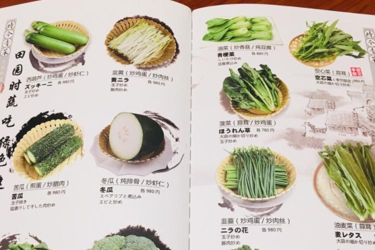 まるで野菜図鑑!中華料理店のメニュー表がめちゃくちゃ斬新だった(笑)