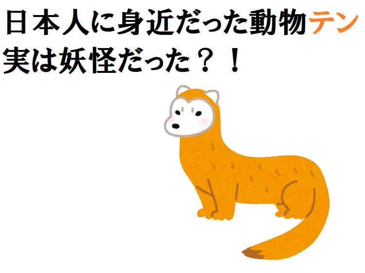 「テン」はキツネやタヌキのように人を化かす?伝承にも多く残る動物!