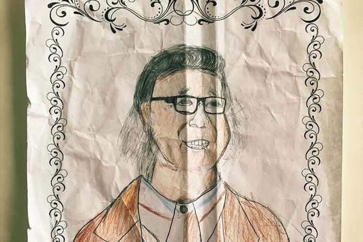 「世界の作曲家の肖像画を描きなさい」という夏休みの宿題で、友人の息子が描いたのはキダ・タローだった
