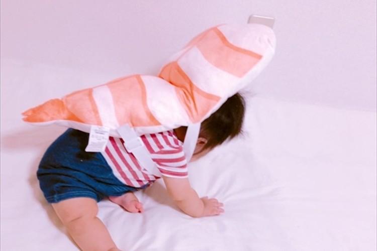 可愛いお寿司に変身した赤ちゃんに反響「生きてる海老さんのように、ぴちぴち暴れてて可愛い」