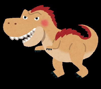 羽毛の生えたティラノサウルスのイラスト