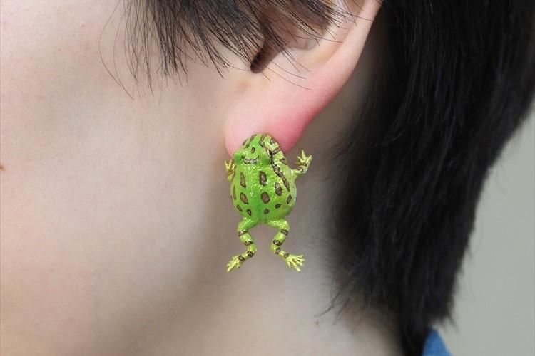 カエルが耳をガブッ!?ユニークな発想のイヤーカフが可愛すぎると話題に「耳からぶら下げたい」