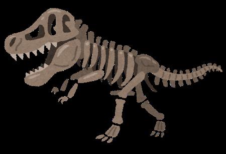 ティラノサウルスの骨のイラスト