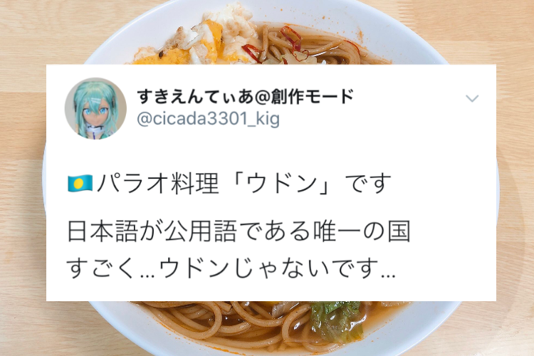 日本と馴染み深いパラオの料理「ウドン」は・・・完全に別物だった!!
