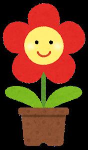 花のキャラクターのイラスト