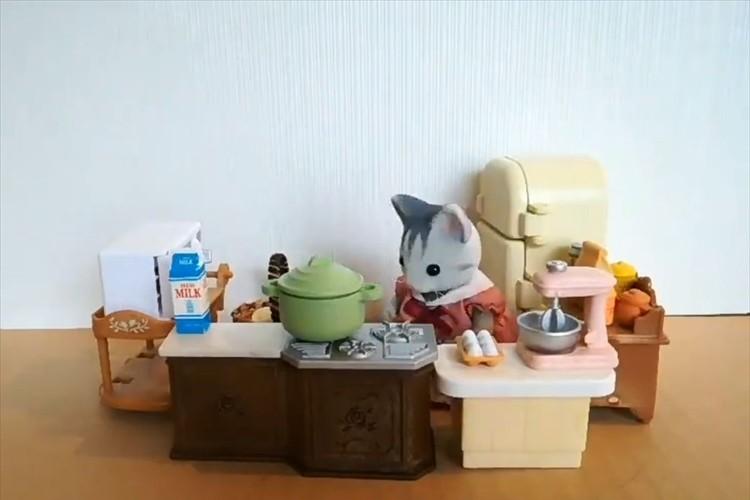 12歳の娘が作ったコマ撮りアニメがめっちゃ可愛い!キッチンのわちゃわちゃ感も伝わってくる