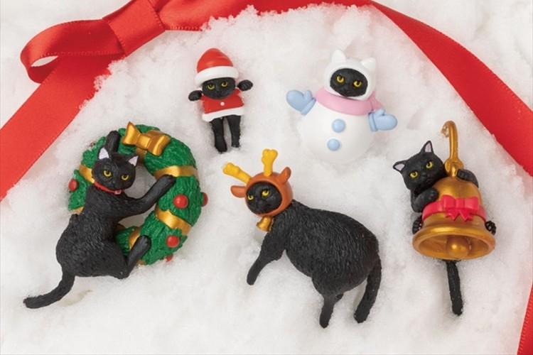 シャノアール限定のフィギュア「ふちねこ」たちがクリスマスバージョンで登場!全部で5種類