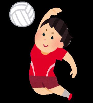 女子バレーボール選手のイラスト
