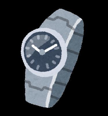 電波時計のイラスト