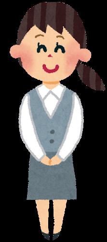 事務職の女性のイラスト