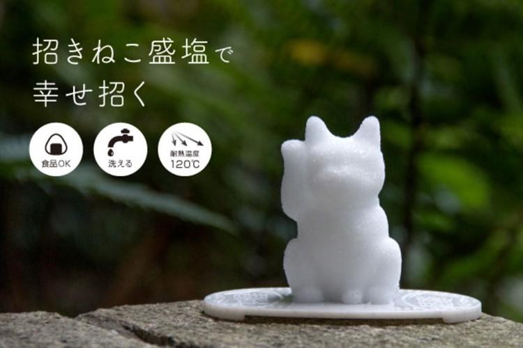 「盛塩」と縁起物である「招き猫」が融合!『にゃんでも招き猫メーカー』が可愛いすぎる!