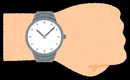 腕時計をつけた腕のイラスト
